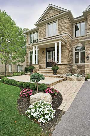 Your house is the largest thing in your yard. Be sure your landscaping design reflects this.