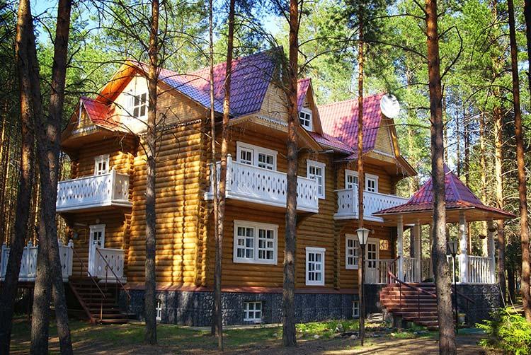 Big cabin in woods