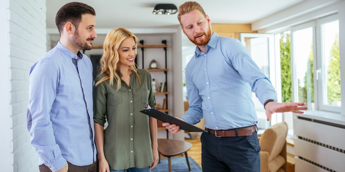 A savvy realtor offering his clients some first-time home buyer tips